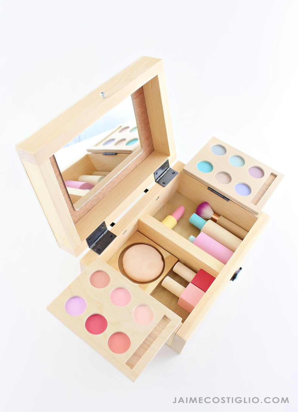 Toy Makeup Set Ana white, Makeup set, Woodworking projects