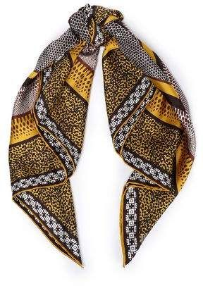 27f23283b622f Roberto Cavalli Printed Silk-twill Scarf in 2019 | Products | Silk ...
