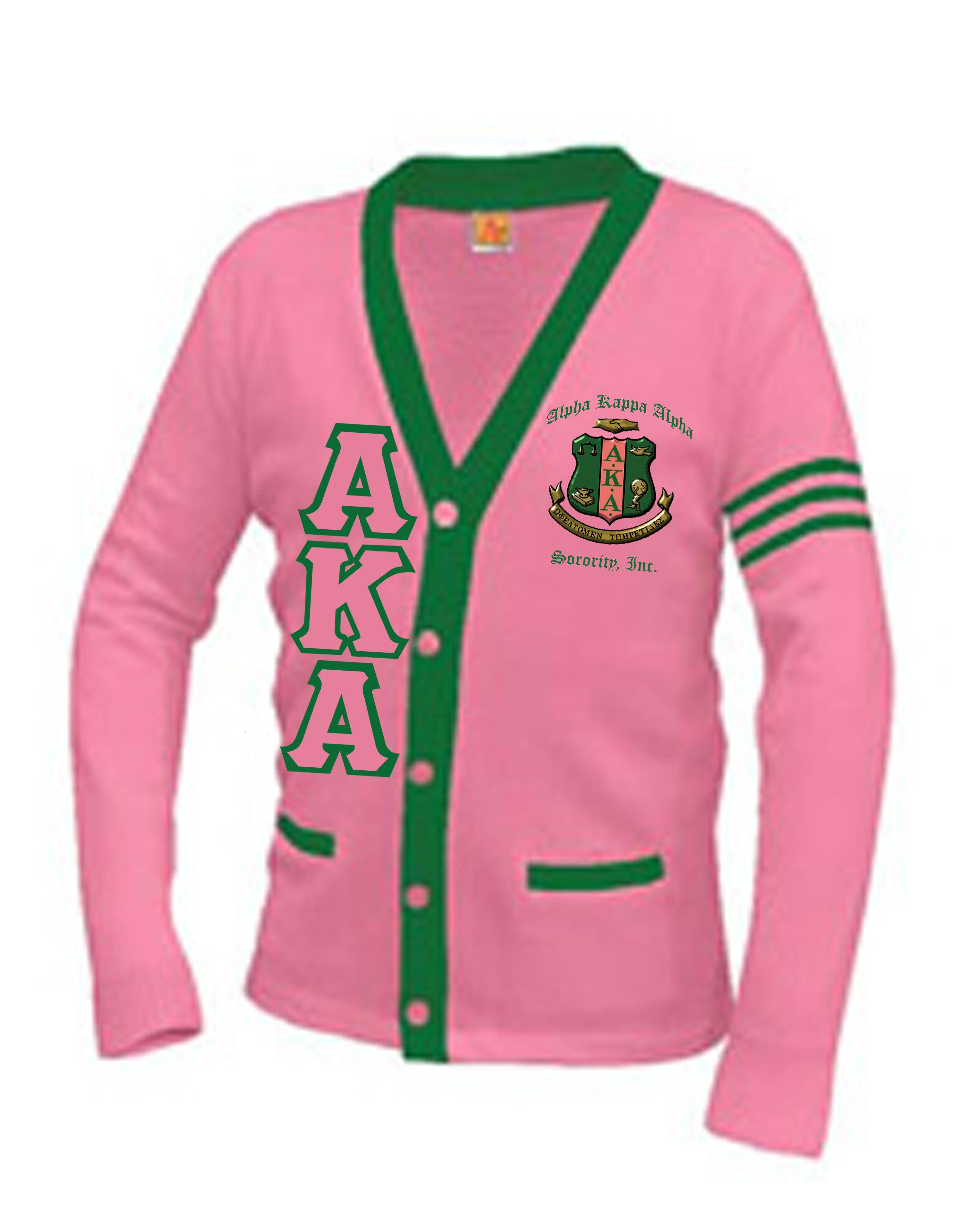 Alpha Kappa Alpha Varsity-Aplus Cardigan  9462a97f2