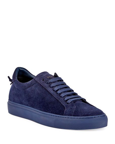 GIVENCHY Men'S Urban Knot Suede Low-Top Sneaker, Burgundy. #givenchy #shoes