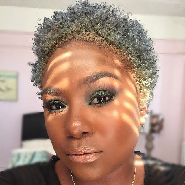 Hi Imcurrentlyobsessed Natural Gray Hair Short Natural Hair Styles Natural Hair Styles