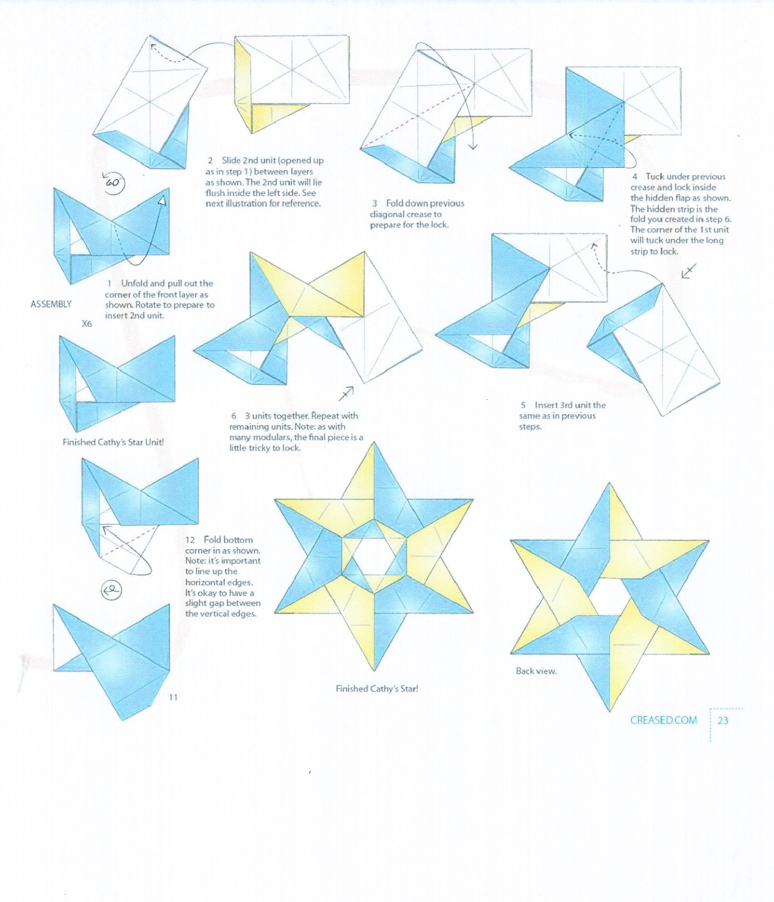 Origami Diagram For Cathys Star