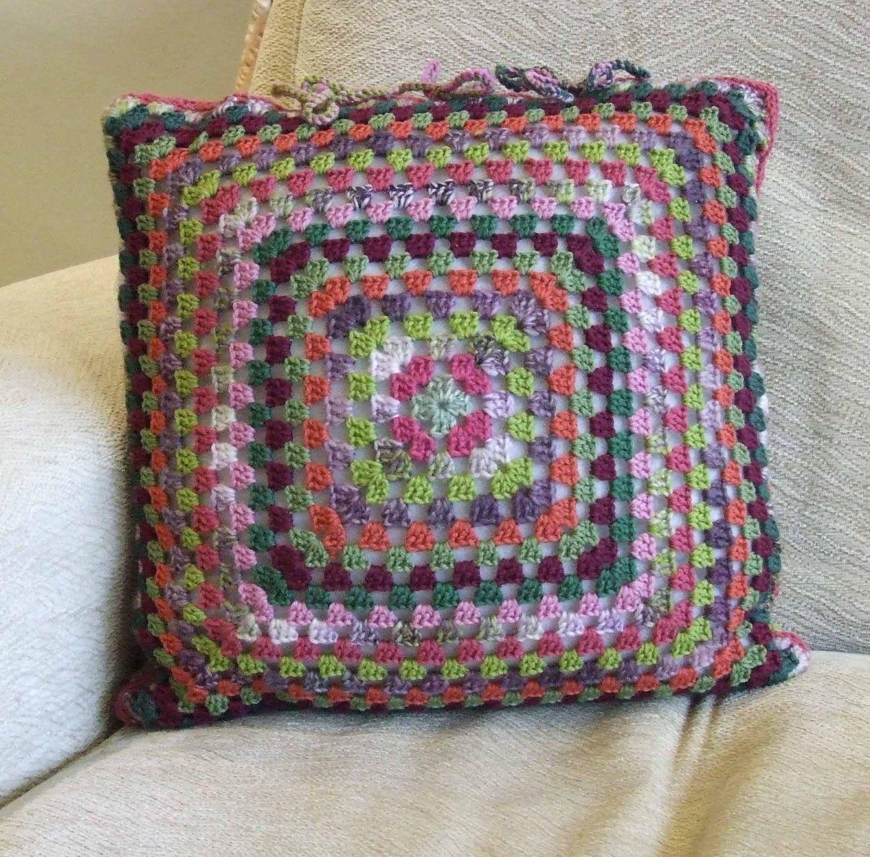 Crochet Cushion Cover Uk: Colour Burst Crochet Cushion Cover from my Etsy shop https   www    ,