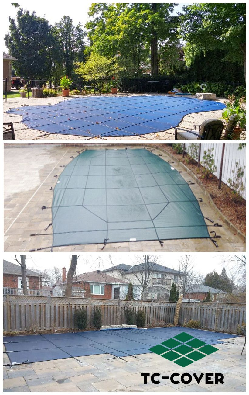 winter inground pool covers Inground pool covers, Pool