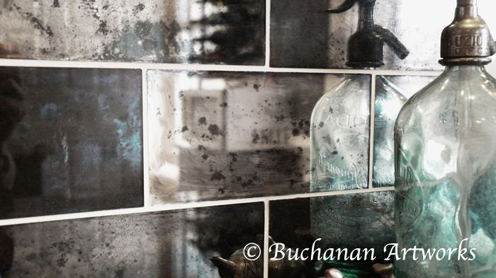 Reflection Of Our Hand Silvered Mercury Glass Tile Finish