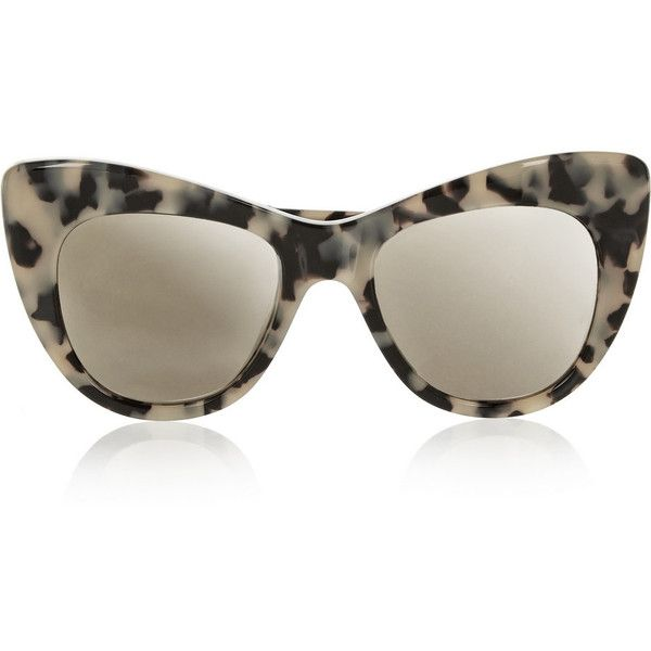 0eb7fb60c4 Stella McCartney Tortoiseshell cat eye acetate sunglasses found on Polyvore
