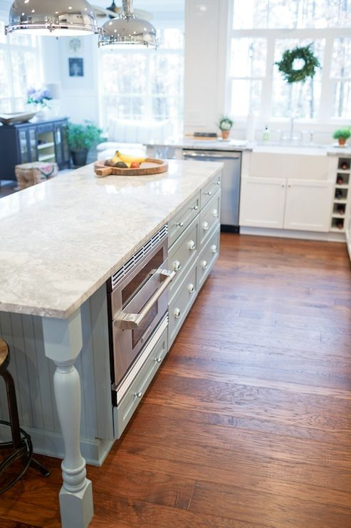 Source Britt Lakin Photography Website Two Tone Kitchen With White Shaker Cabinets Paired Vermont Granite Countertops And Subway Tiled