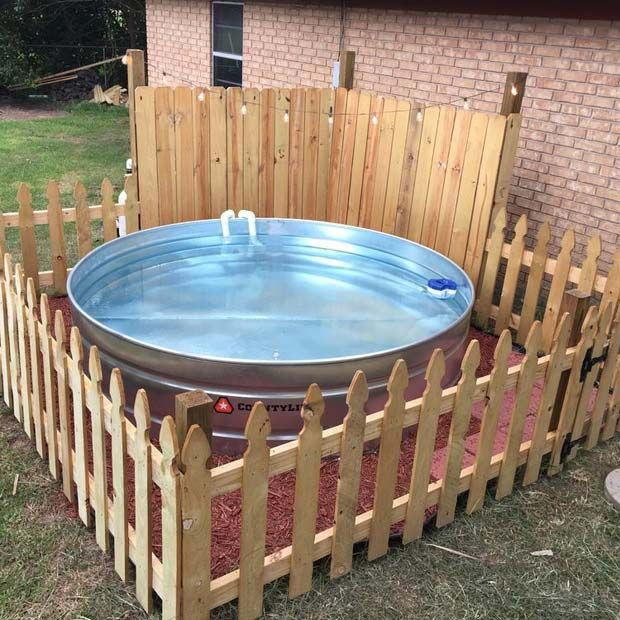 Galvanized Stock Tank Turned Into Backyard Private Pool Stock Tank Tank Pool Stock Tank Pool