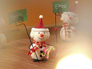 Muñecos de nieve modelados | Sara de los Cobos