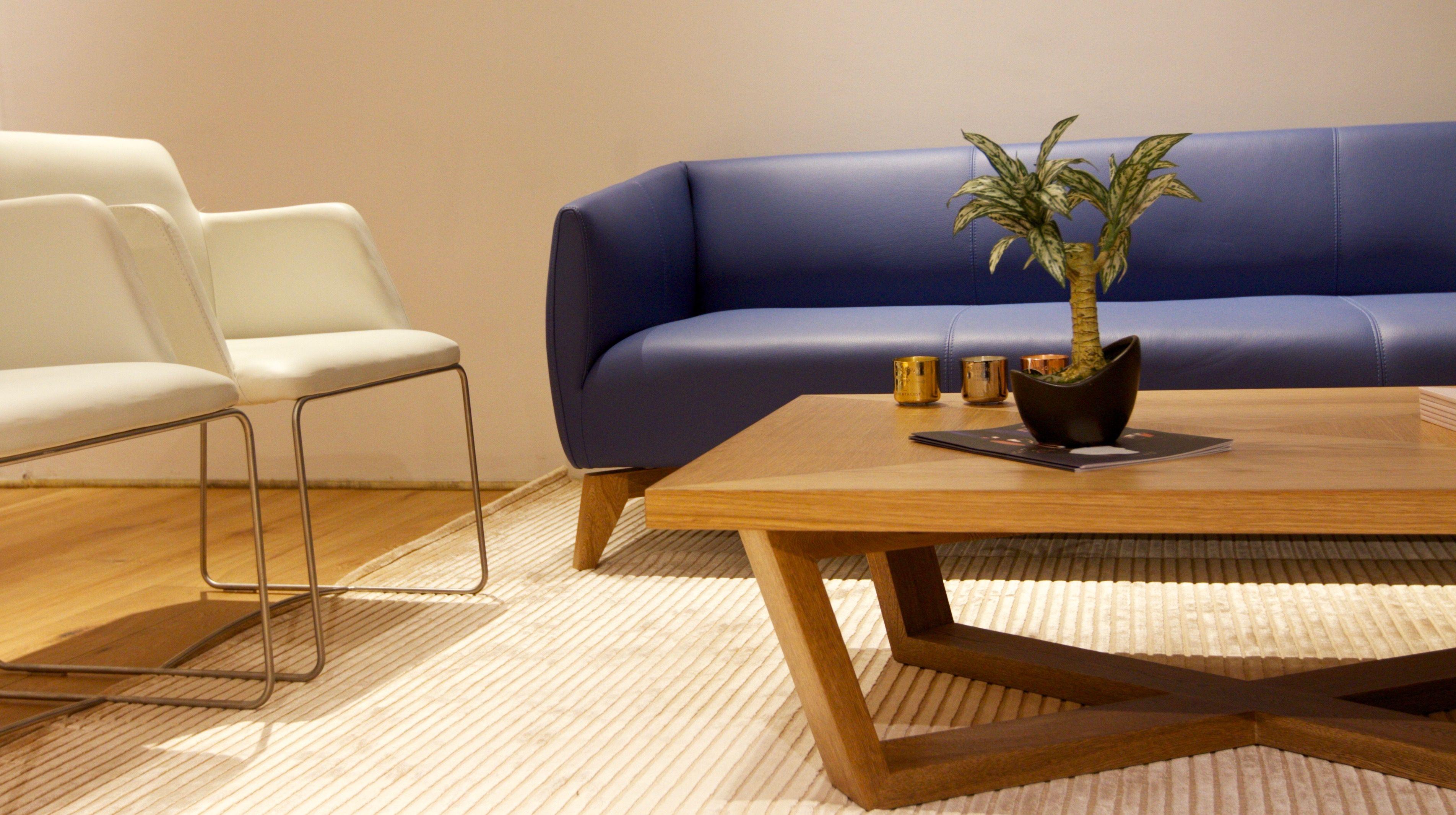 Sofa Indie En Piel Italiana Mastroto Blue Violet Zientte  # Muebles Zientte