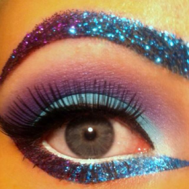 love glitter eyebrows