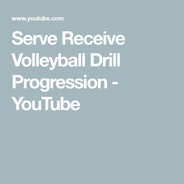 Serve Receive Volleyball Drill Progression Youtube In 2020 Volleyball Drills Drill Volleyball