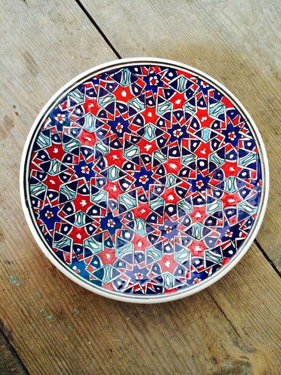 Hand Made Turkish Ceramic Plate / Wall Decor by Turqu50 on Etsy & Hand Made Turkish Ceramic Plate / Wall Decor | Ceramic plates ...
