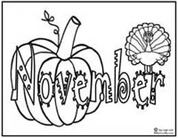 Click image to download and print November themed coloring ...