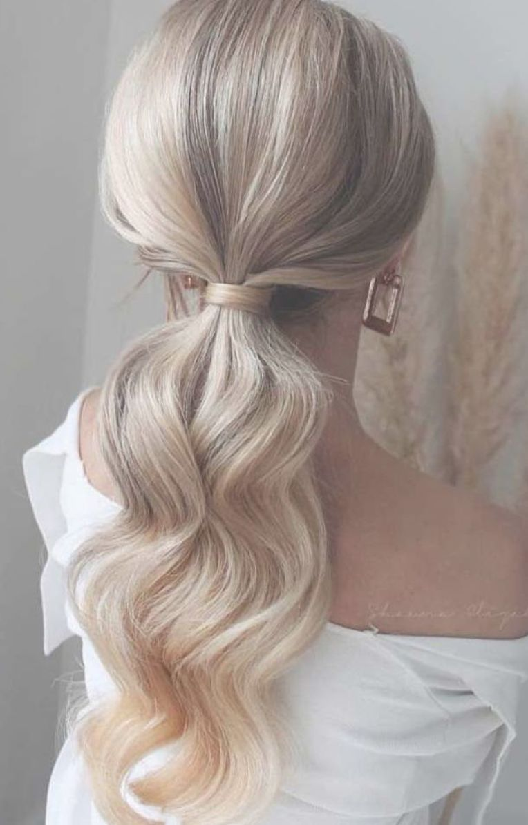 53 Best Ponytail Hairstyles Low And High Ponytails To Inspire Hairstyles Weddinghair Ponytails Tail Hairstyle Bridal Ponytail High Ponytail Hairstyles