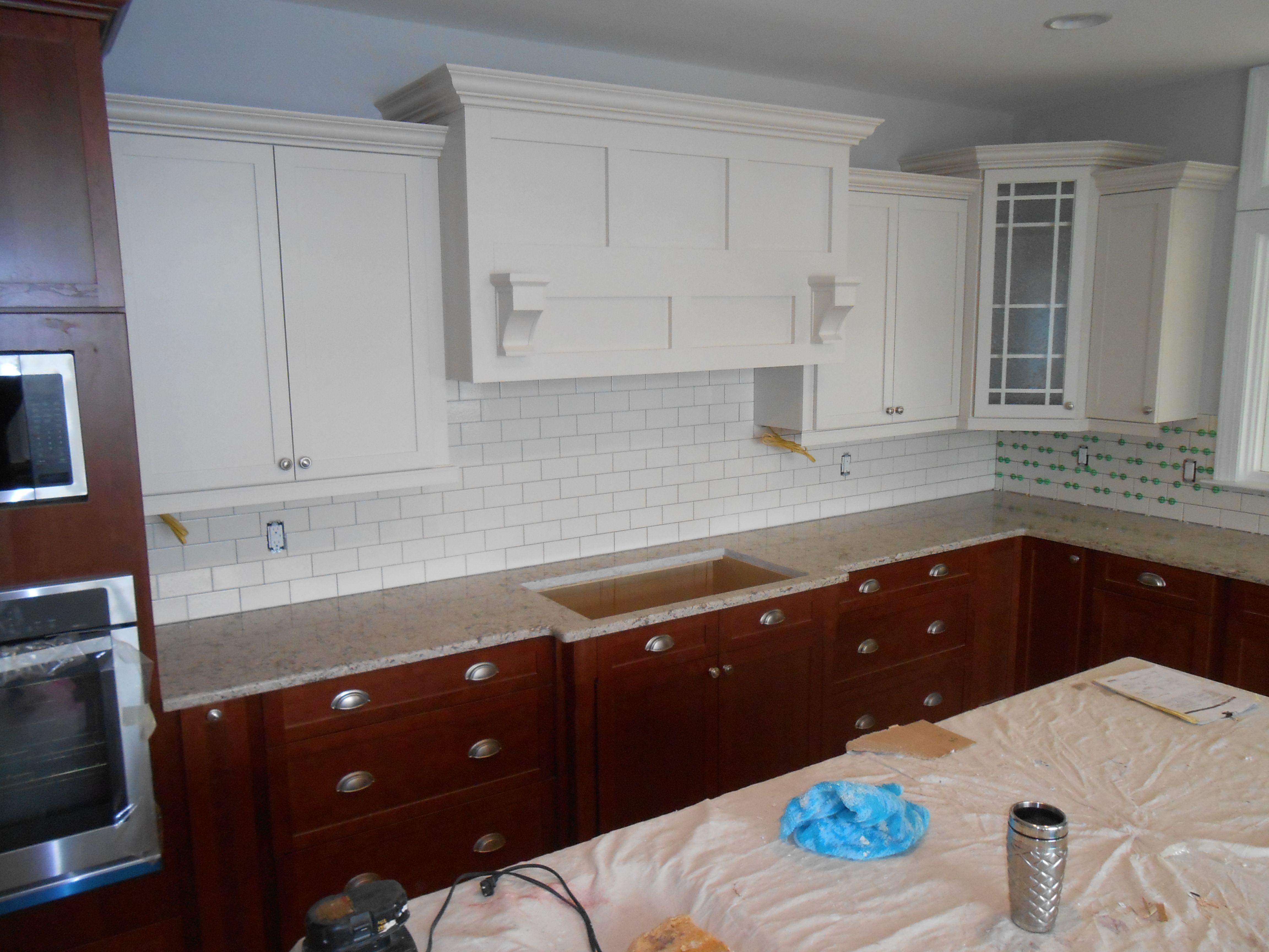 My kitchen in progress Cambria Windermere quartz 2 tone