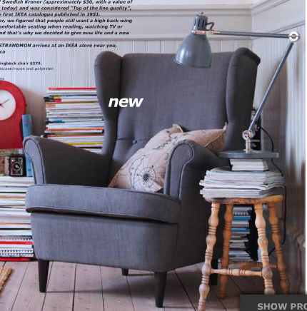 Ikea Wingback Chair   Need One For Each Side Of The Fireplace
