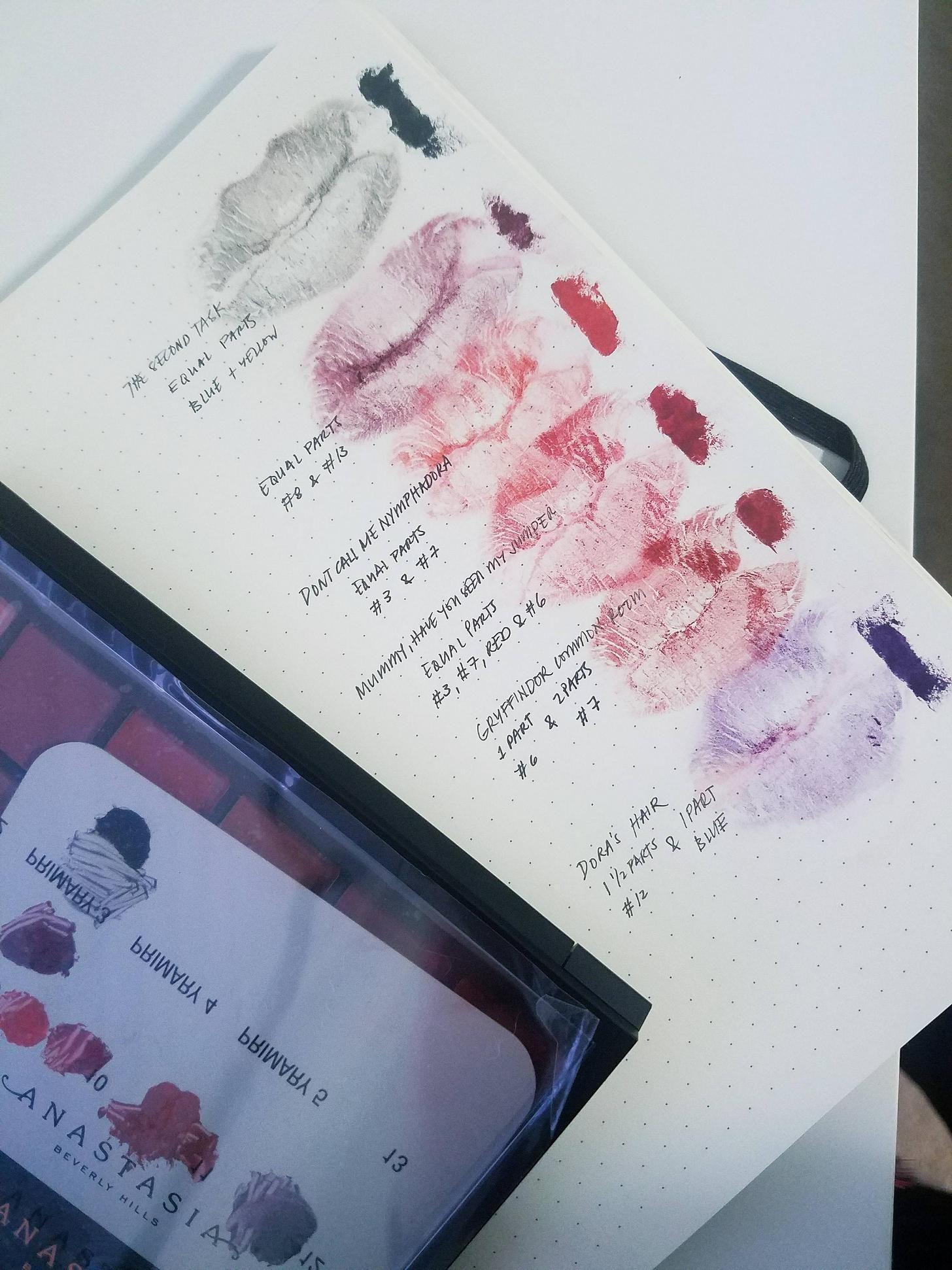Imgur Abh lip palette, Lip palette, Lip colors