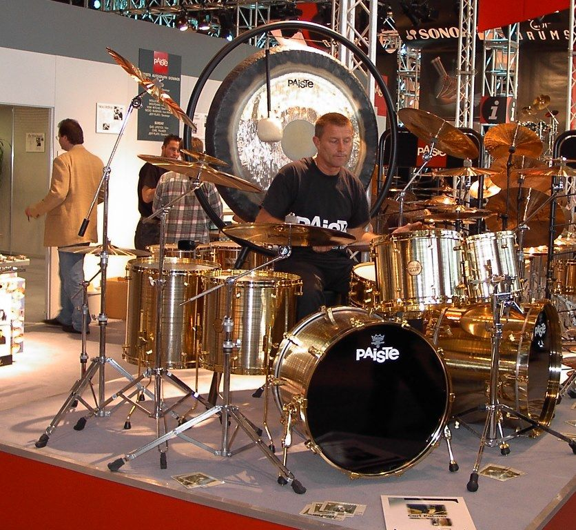 carl palmer 39 s paiste drum set at music messe in 2002 drums cymbals gear in 2019 musique. Black Bedroom Furniture Sets. Home Design Ideas