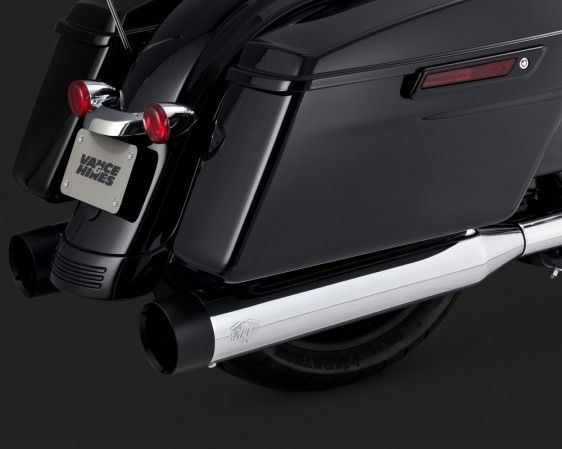 OVERSIZED 450 SLIP-ONS BLACK TIP   VANCE & HINES PRODUCTS