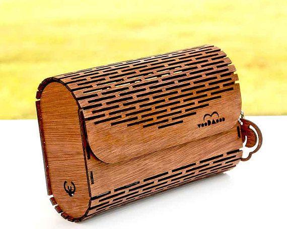Crossbody frizione e borsa in legno di alacatitezgahlari su Etsy