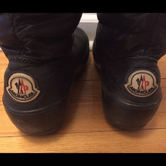 authentic real deal Moncler winter boots size 39 From Barneys New York. Cuz baby it's cold outside! Real down fills the shaft. Moncler Shoes Winter & Rain Boots