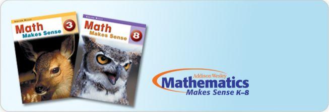 Math Makes Sense Addison Wesley Ontario Edition K 8 Math Mathematics