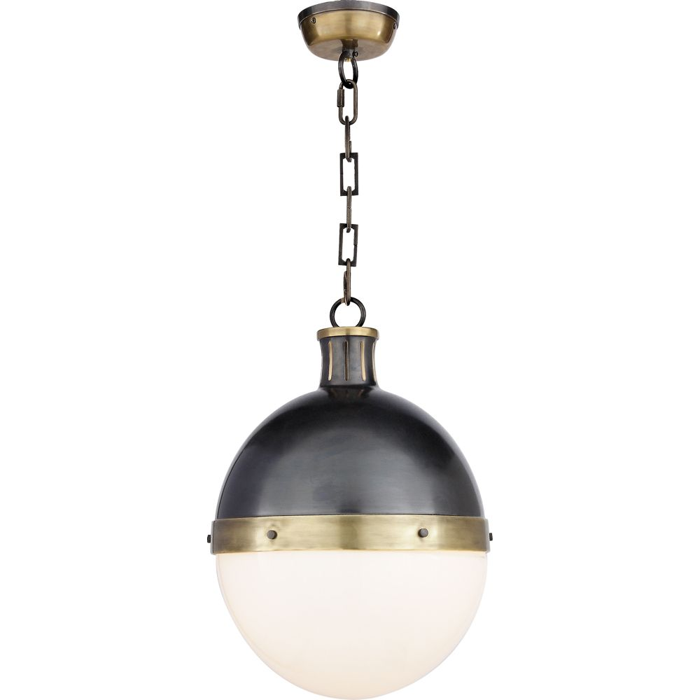 Wendell large pendant antique brass httpshopmackproducts visual comfort thomas obrien large hicks 2 light pendant in bronze and hand rubbed antique brass with white glass arubaitofo Gallery