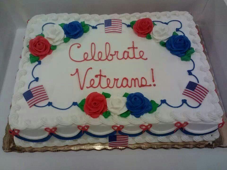 Veterans Day Cake Patriotic Cake Decorating Patriotic Cake