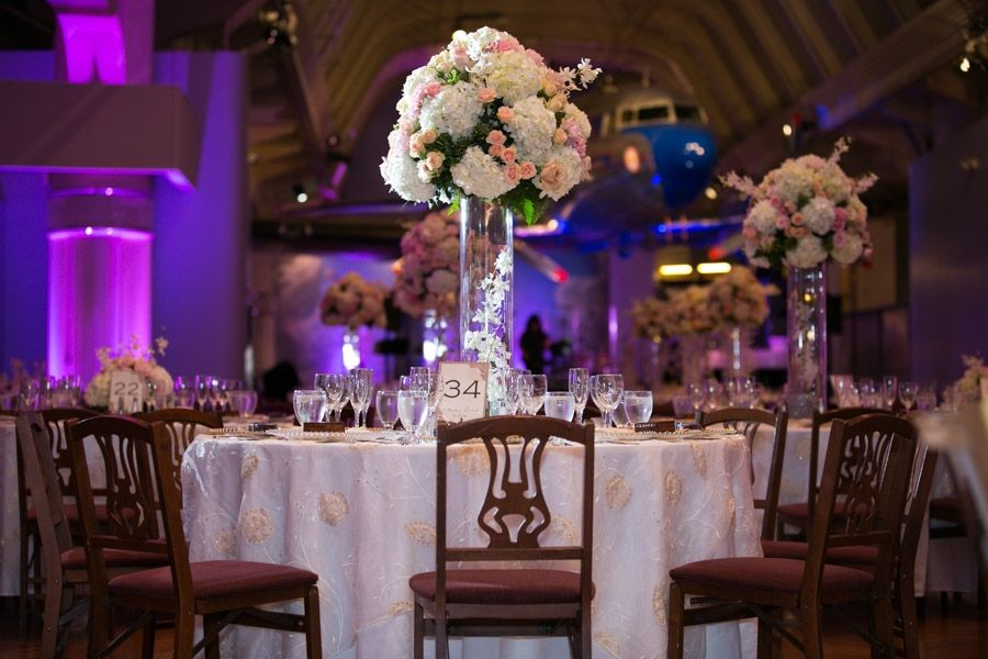 A Beautiful Reception In Henry Ford Museum With Stunning Linen And