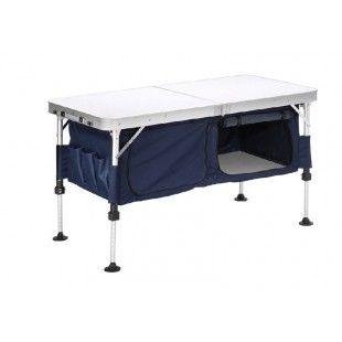 Table pliante de camping avec meuble de rangement new for Table pliante avec rangement