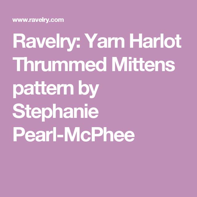 Ravelry: Yarn Harlot Thrummed Mittens pattern by Stephanie Pearl-McPhee