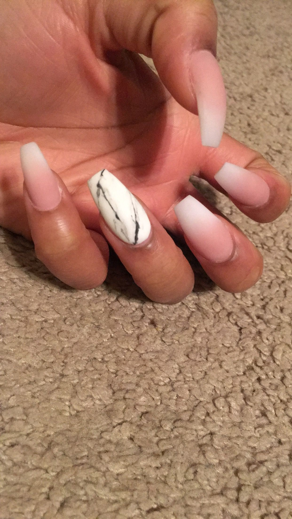 Coffin nails Ombré nails Matte nails Marble nails | Nails ...