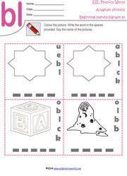 Esl Phonics Activities Kindergarten
