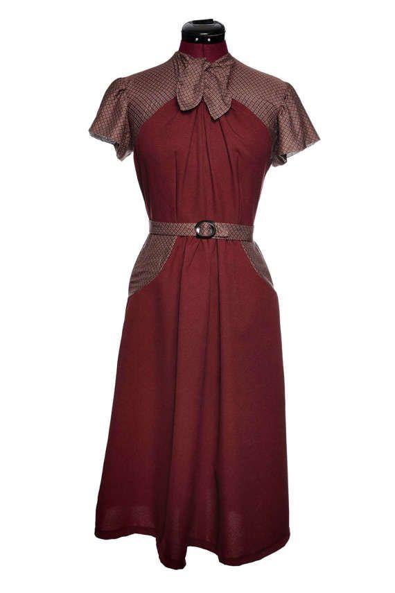 40er-Jahre Kleid nach Originalschnitt Unikat von JuliaSeyfarthMode ...