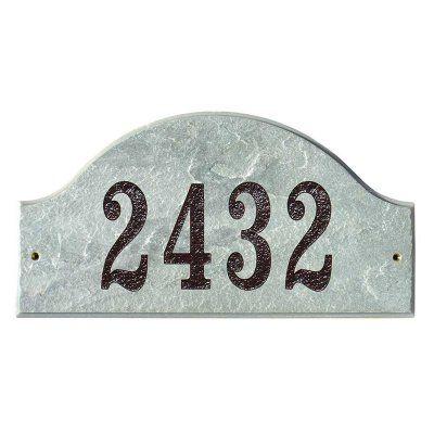 QualArc Ridgecrest Arch Granite Address Plaque Quartzite - RID-4703-QZ-GOLD