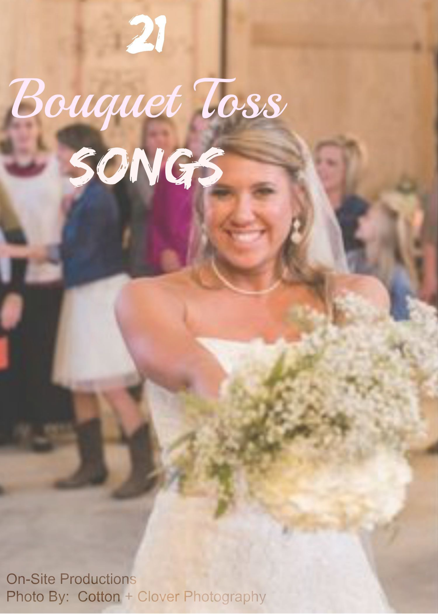 The bouquet toss is such a fun part of the wedding ...