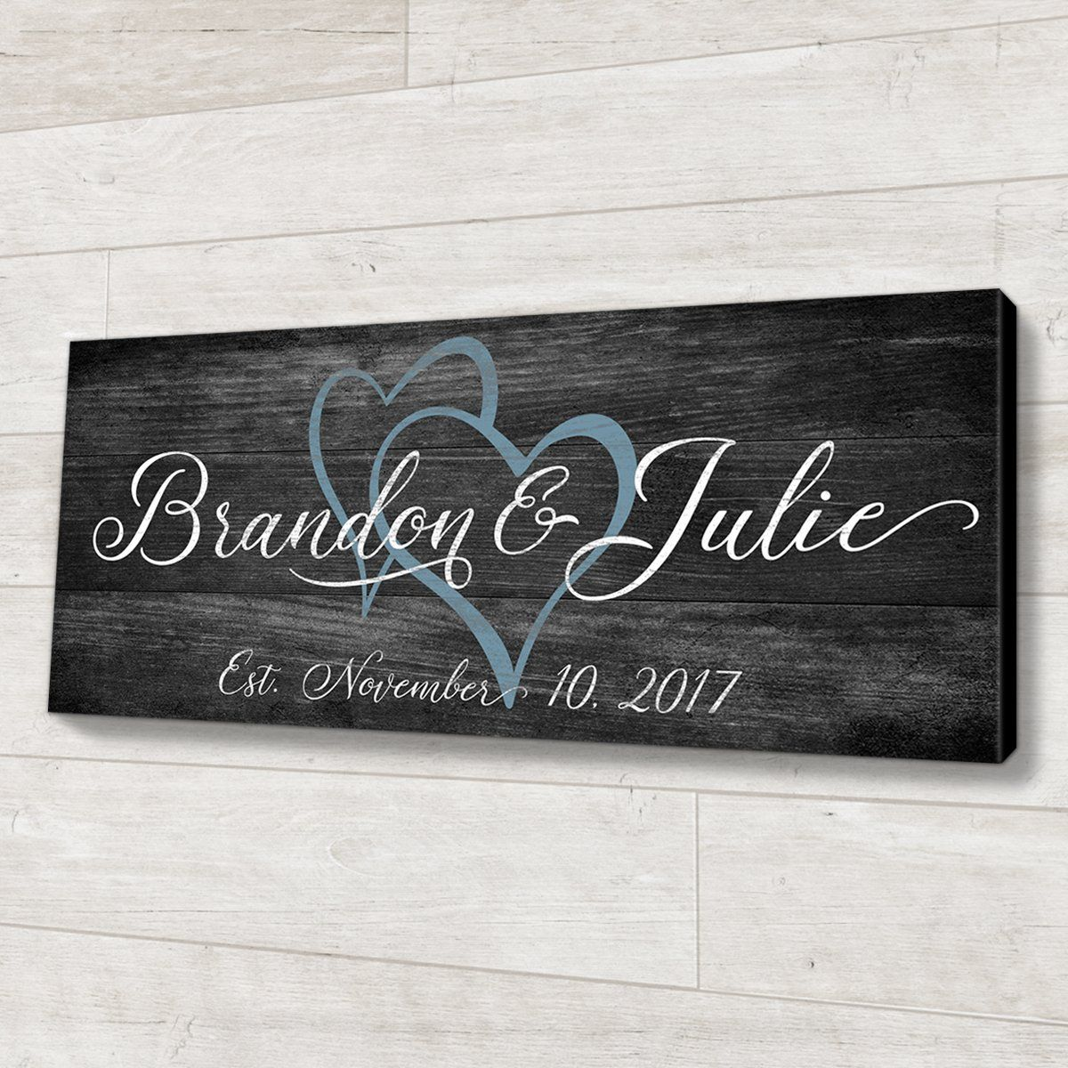 Wood Wedding Gift Ideas: Family Established Wood Sign Personalized Wedding Or