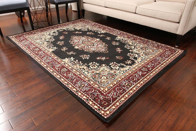 0552 Black Mashad Oriental Area Rugs Oriental Area Rugs