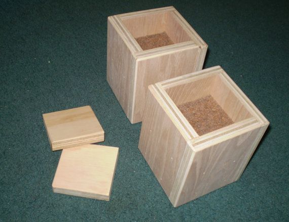 Furniture Risers 4 Inch All Wood Construction Unfinished Square