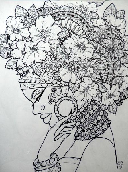 personnage | Face Painting Ideas | Pinterest | Mandalas, Colorear y ...