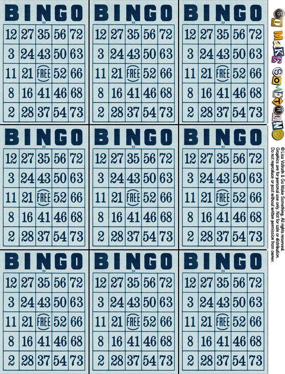 Super ces cartes de Bingo sont au format ATC, mais vous pouvez aussi les  BU69