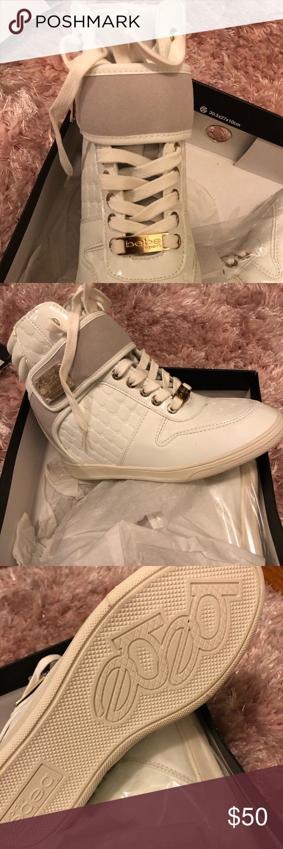 6808d5599ab Bebe Colby wedge sneakers Keep in mind that depending on the lighting these  sneaker soles will