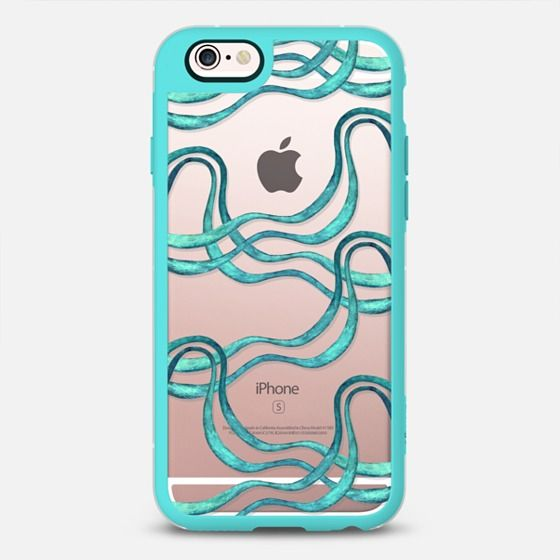 Serpentine, ribbon turquoise (watercolor) - New Standard Case