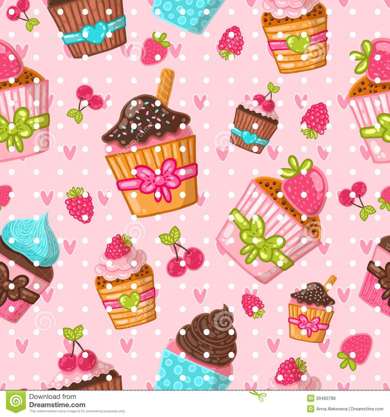 Cupcake Wallpaper: Cupcakes Animados - Buscar Con Google