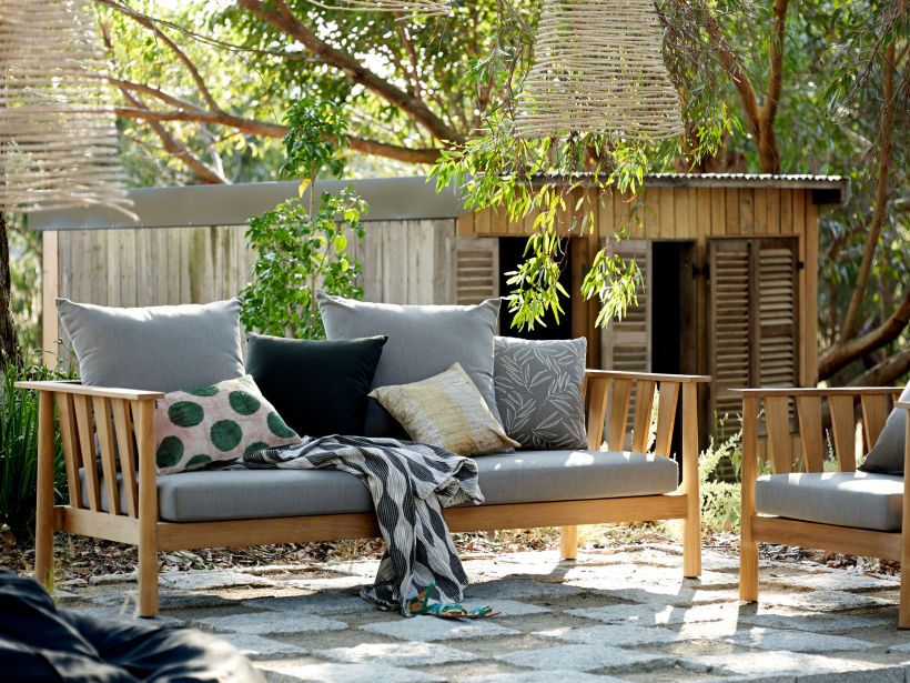 Eco Outdoor Malua 3.5seat Lounge And Lounge Chair In Outdoor Fabric Basics.  Outdoor Furniture