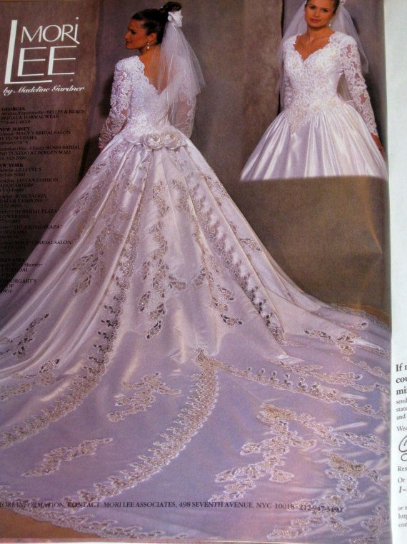 1bda66afd64 This is my wedding gown! 1996 Mori Lee..has a 15 ft train ...
