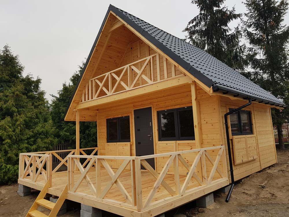 Kup Teraz Na Allegro Pl Za 40500 00 Zl Domki Letniskowe Drewniane Bez Pozwoleni Domki 7139168052 Allegro P Tiny House Plans Log Cabin Homes Woodland House