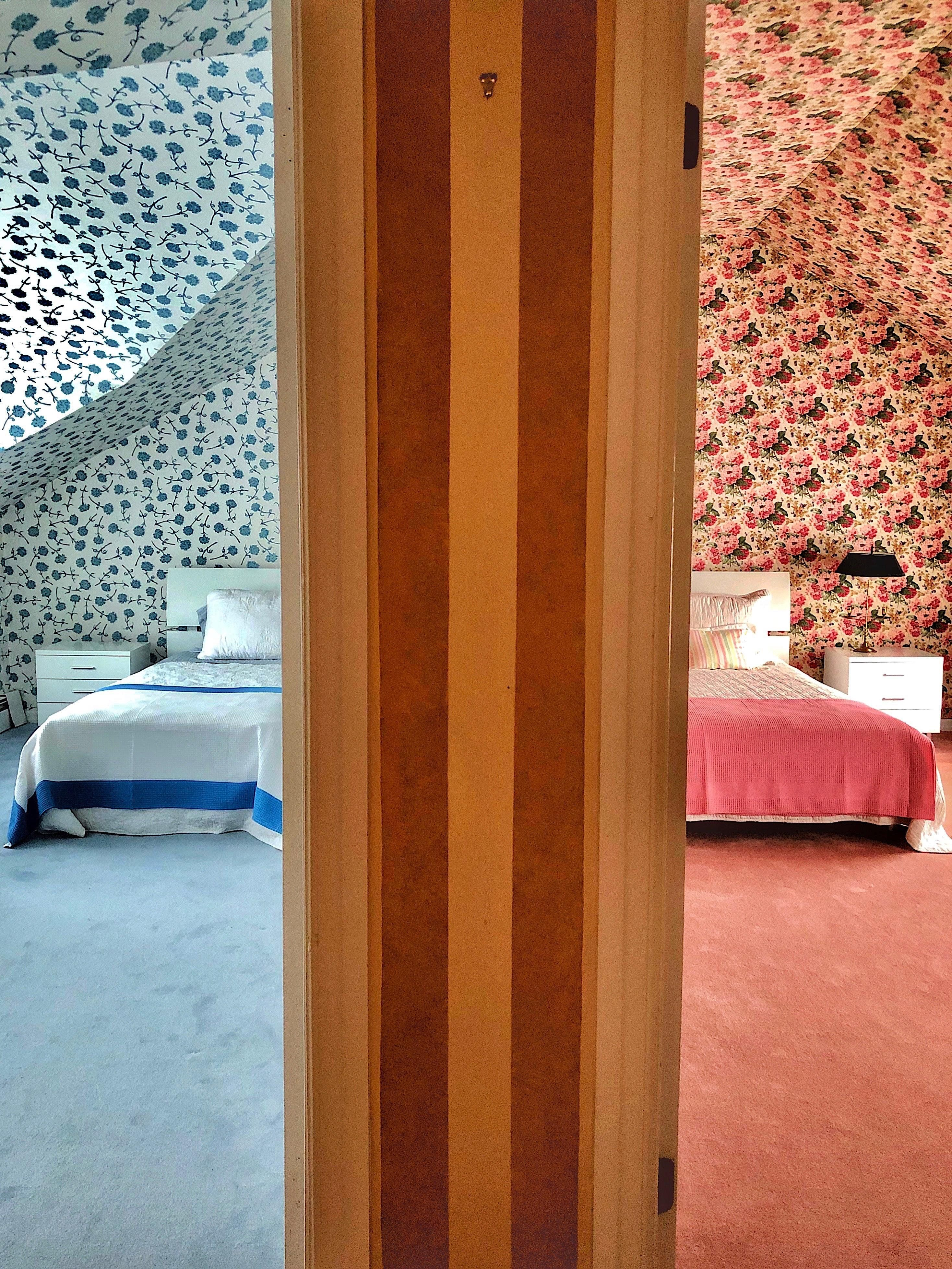 Adjacent Bedrooms AccidentalWesAnderson Interior