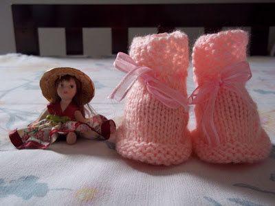 Receita de Tricô: Sapatinho de trico para recem-nascido